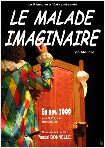 «Le Malade Imaginaire», par La Planche à Voix (Affiche)