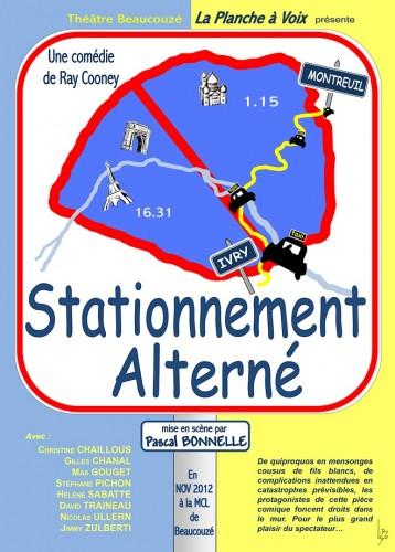 «Stationnement Alterné», par La Planche à Voix (Affiche)
