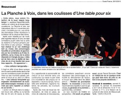 « Une table pour six », Ouest-France 28/10/2013