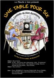 « Une Table pour Six », par La Planche à Voix (Affiche)