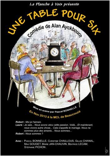 «Une Table pour Six», par La Planche à Voix (Affiche)