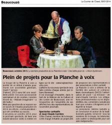 « Une table pour six », le Courrier de l'Ouest 09/01/2014